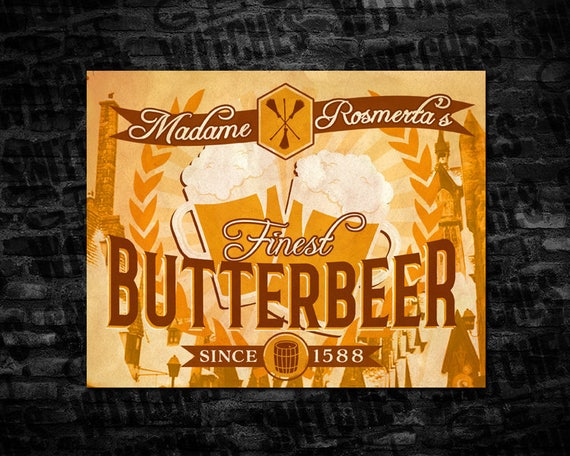 butterbeer large printable label 7 25 x 5 75