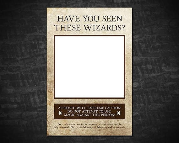 Have You Seen These Wizards Printable Wanted Poster 8 X 10
