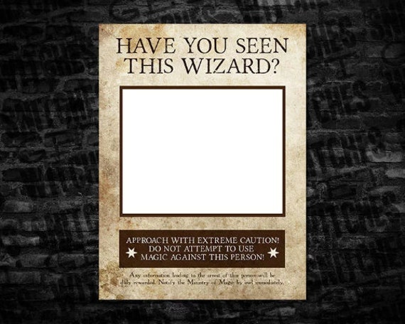 This is an image of Have You Seen This Wizard Printable regarding blank