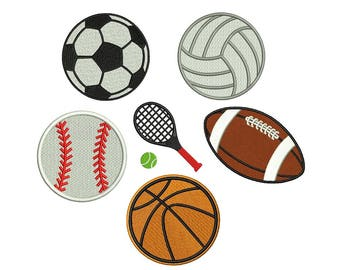 Football Embroidery Design - 6 designs - instant download