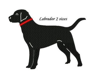 Labrador Dog Embroidery Design - 2 sizes Retriever embroidery INSTANT DOWNLOAD