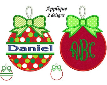 My First Christmas Embroidery design - 2 APPLIQUE designs 4x4, 5x7, 6x10 hoops Ornaments Applique Embroidery instant download