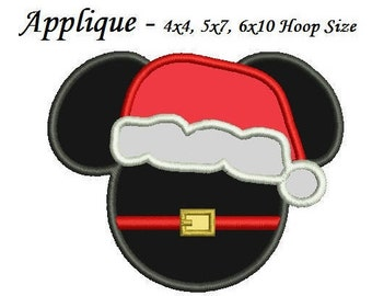 christmas mickey applique design 34567 inch machine embroidery applique design mickey mouse christmas applique - Christmas Mickey Mouse