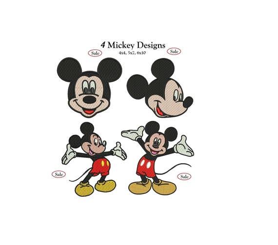 Mickey Mouse Embroidery Mickey Mouse Embroidery Design 4 Etsy