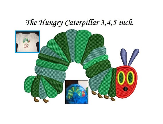 The Hungry Caterpillar Embroidery Design 345 Inch Size Etsy