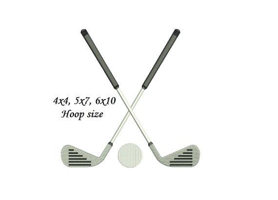 Golf Embroidery Design 4x4 5x7 6x10 4 Sizes Golf Ball Etsy