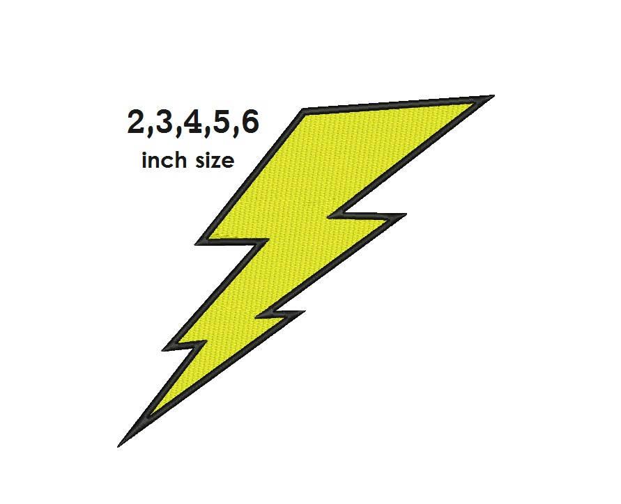 Text and Shapes Embroidery Design: Lightning Bolt from ...   Lightning Bolt Design