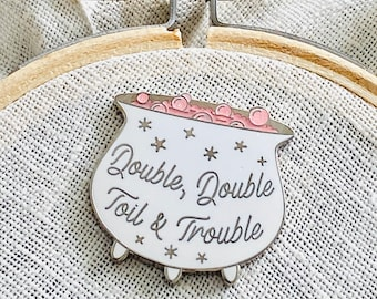 Double Trouble Needle Minder silver white