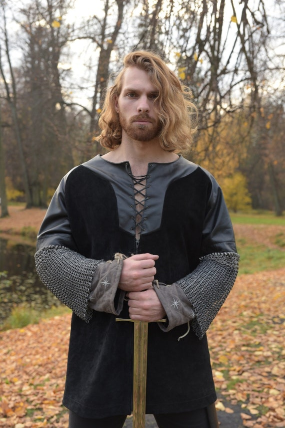 Mittelalterliches Leder Aragorn Jacke; Herr der Ringe; Aragorn Kostüm ; Aragorn Weste; mittelalterliche Kleidung; Rüstung Männer; black friday