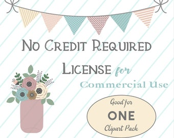 ONE SET- No Credit Required Commercial License
