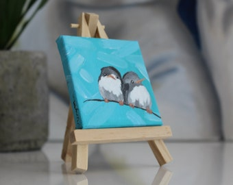 Birds tiny painting