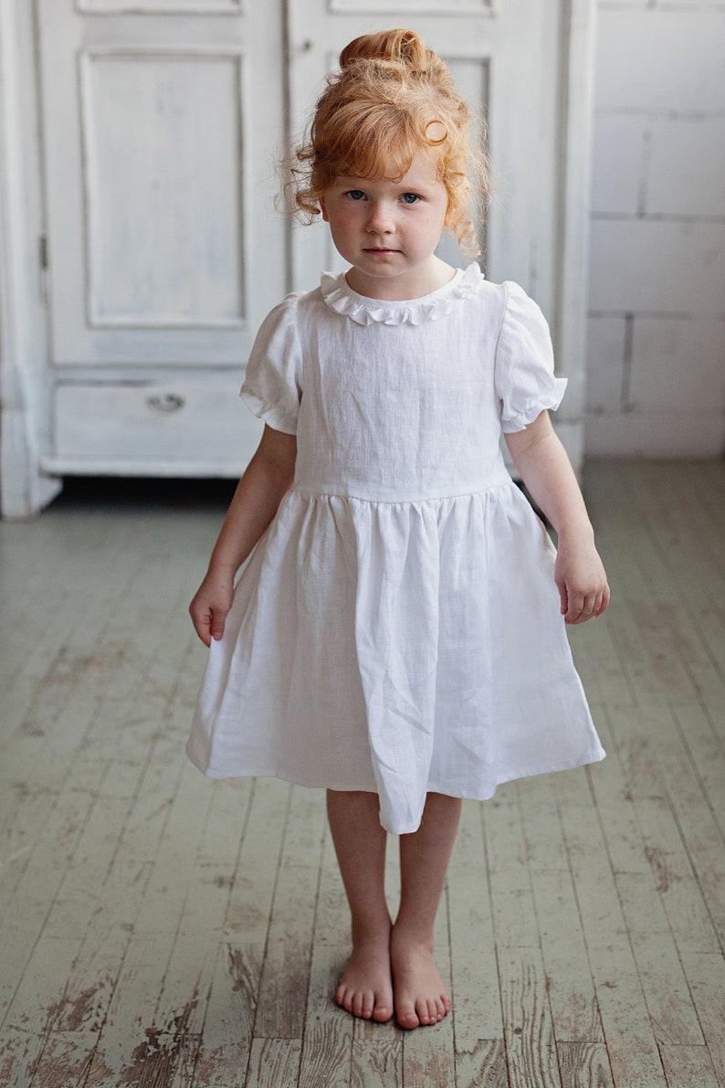 a718e1ddca5 Robe de fille de mariage de printemps robe à volants robe de