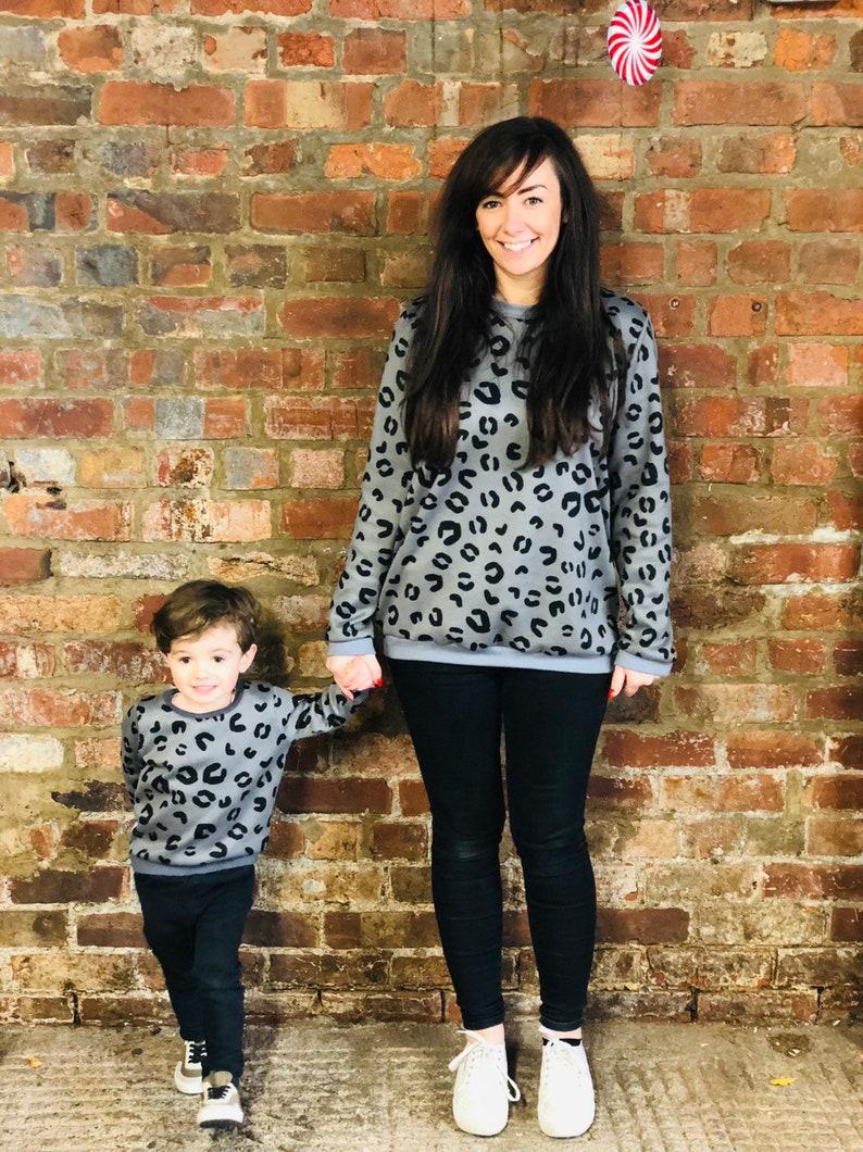 baby jumper grey kids top Animal Print Sweater winter jumper leopard to winter Kids jumper Leopard print kids Sweater faux fur jumper
