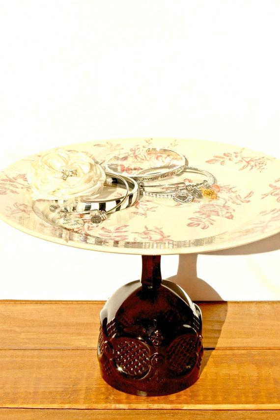 Floral cake riser / Cake platform / Dining room decor / | Etsy