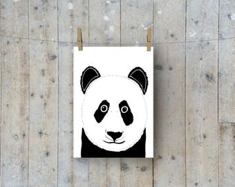 A4  Pair of Pandas Nursery Print
