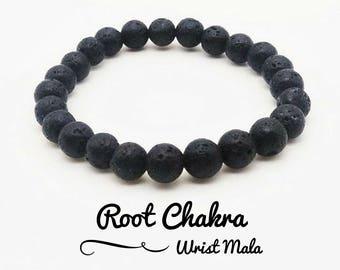 8mm Lava Beaded bracelet Mens Bracelet Mala Beads Yoga Beaded Jewelry Mens Gift for him Mala bracelet Mens Chakra Bracelet Men's Jewelry