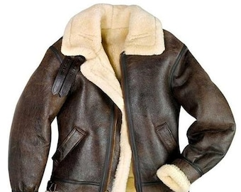 Mens vintage tan faux shearlingsheepskin faux suede winter coat jacketwinter plush fur lined jacket46