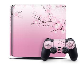 Blooming Sakura PS4 Pro Skin Japan PS4 Slim Skin PS4 Fat Skin PS5 Skin Art Pastel Plastation PS5 Console PS5 Controller Pink Flower Skin