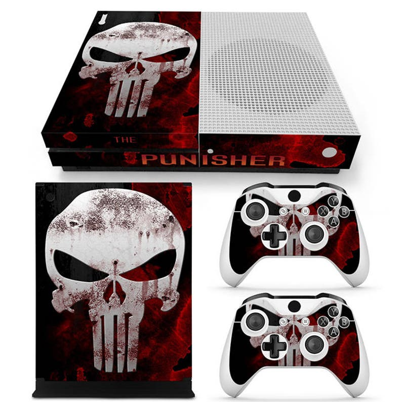 Supply Punisher Xbox One S Sticker Console Decal Xbox One Controller Vinyl Skin Quality First Faceplates, Decals & Stickers