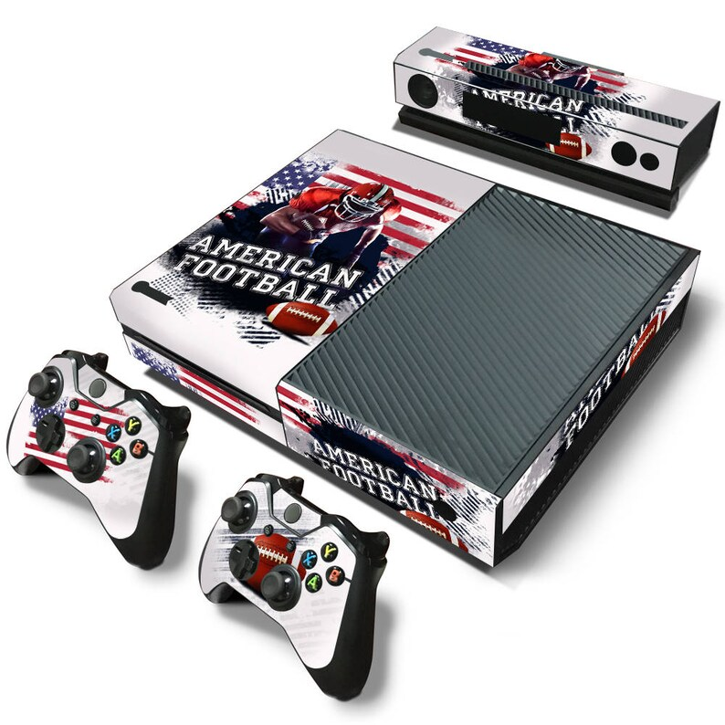 2 Controller /& Kinect Skin Set Xbox One Console Skin Decal Sticker American Football Design