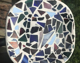Handmade Stained glass Mosasic tray.