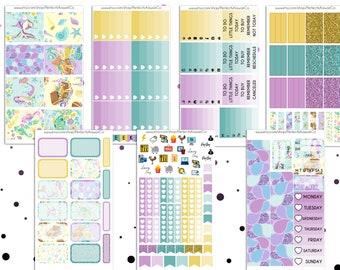 Wonderful Ocean - Weekly Sticker Kit For Erin Condren Vertical Planner