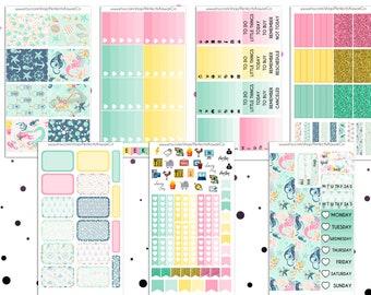 Under The Ocean- Weekly Kit For Erin Condren Vertical Planner