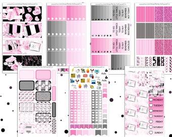 So Much Pink - Weekly Kit For Erin Condren Vertical Planner