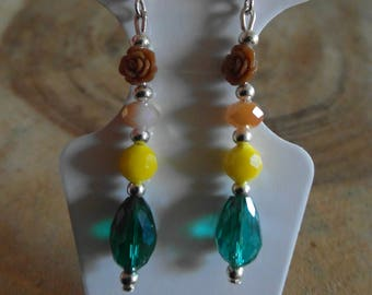 Beaded mix earring