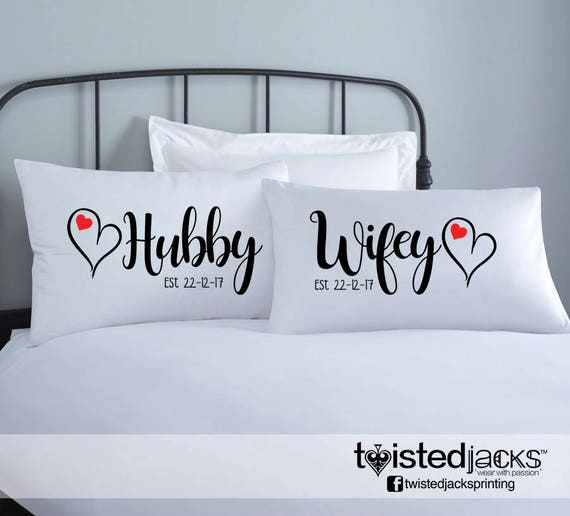 personalized wedding pillow cases
