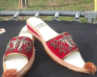 1abbafc81073fb RARE antique Vintage Genie Slippers Indian Wedding shoes handmade Leather  High quality