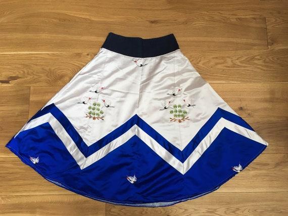 Handmade Hand Embroidered Swing Skirt (Poodle Skir