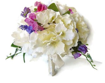Bridal Bouquet / Silk Wedding Flowers / Bridesmaids posy / Brides Bouquet / Free Delivery