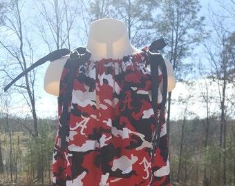 Pillowcase dress pillow case dress Alabama dress girls dress football dress