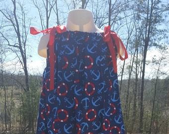 Pillowcase dress pillow case dress 4th of july dress girls dress patriotic dress