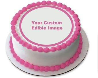 Custom Edible Image Icing Sheet, Happy Birthday, Baby Shower, Wedding, First Birthday, Cake Topper, Cookie Topper, Cupcake Topper