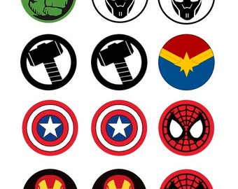 Super Hero Icing Sheet Edible Toppers, Superhero Cupcake, Superhero Cookie Toppers