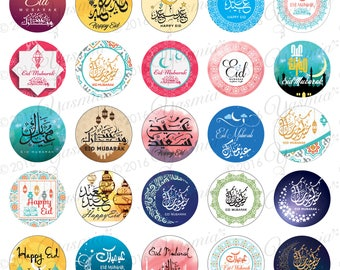 35 Eid Mubarak Stickers Decorations Colourfull Fantastic Designs 35 Different Designs Ramadan