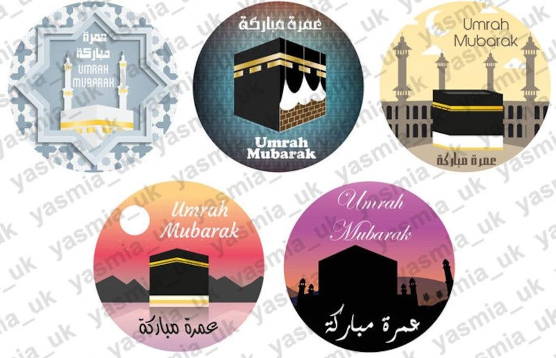 35 umrah mubarak stickers decoration gift umra mubarak  etsy