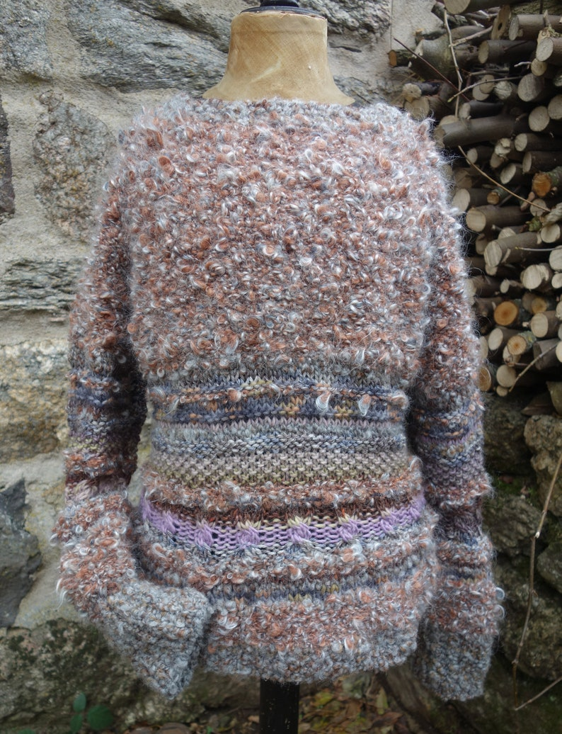 Sweater Quattrocento knitted by hand in a range of yarns pure wool