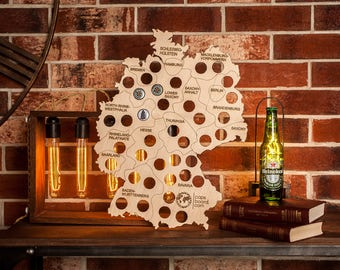 Germany Beer Cap Map Etsy - Germany beer cap map