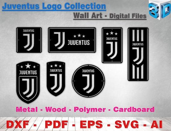 juventus logo collection wall art vector cnc lasercut download etsy etsy