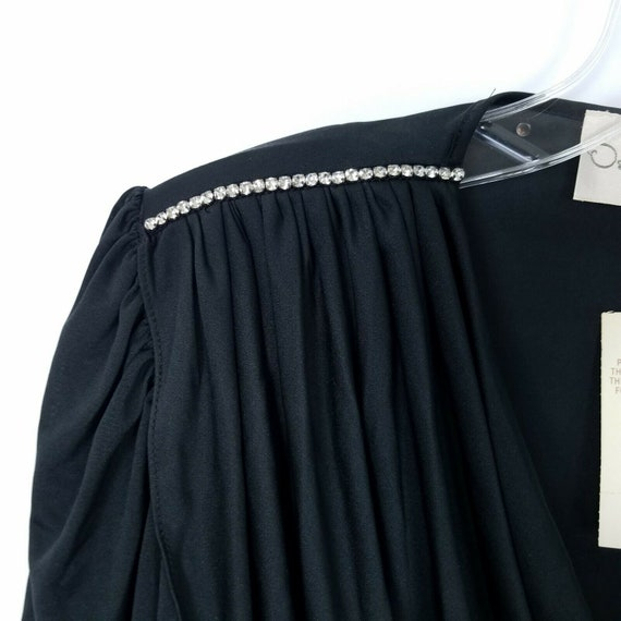 Oscar De La Renta Vintage evening gown dress blac… - image 10
