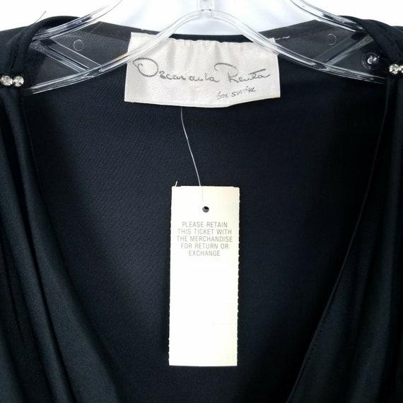 Oscar De La Renta Vintage evening gown dress blac… - image 3