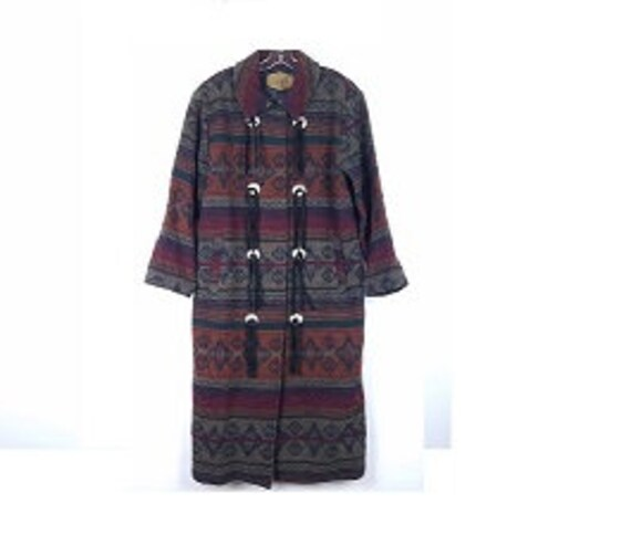 WOOLRICH Womens size M Long Navajo Nordic Coat Woo