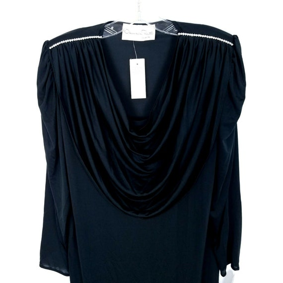 Oscar De La Renta Vintage evening gown dress blac… - image 9