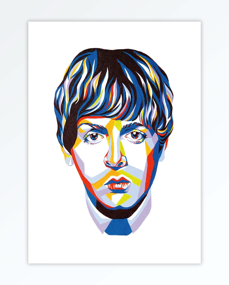 Paul McCartney Inspired Art A4 Home Wall Print  The Beatles image 0