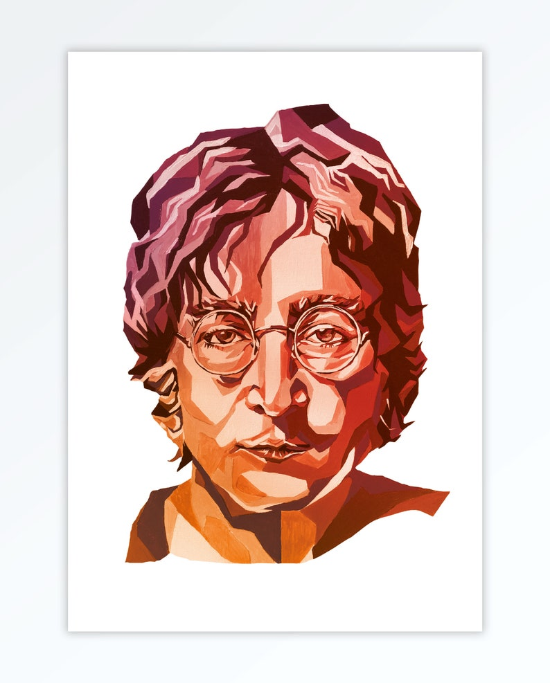 The Beatles inspired John Lennon Art A4 Home Wall Print  The image 0