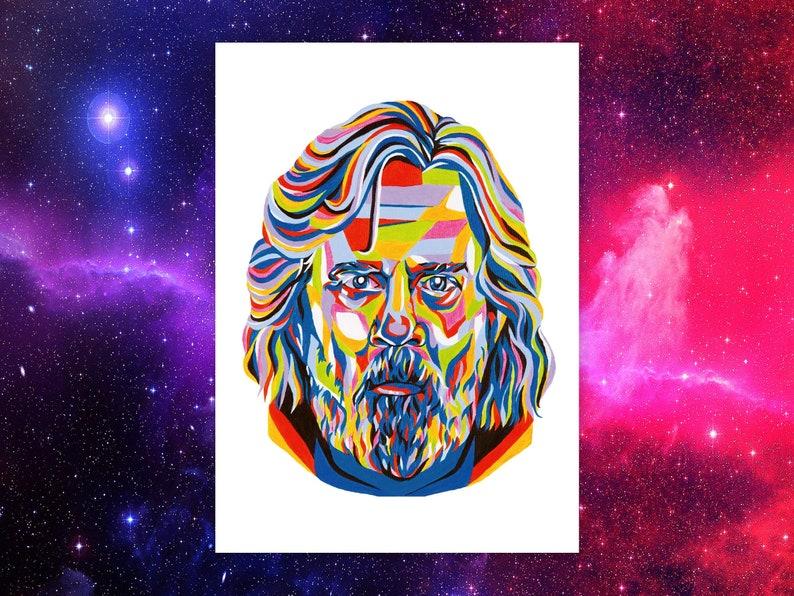 Star Wars Luke Skywalker Inspired Wall Art Print  Mark Hamill image 0