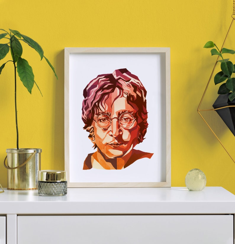 John Lennon Art A4 Home Wall Print  The Beatles John Lennon image 0